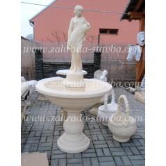 Zahradní fontána s dívkou se džbány