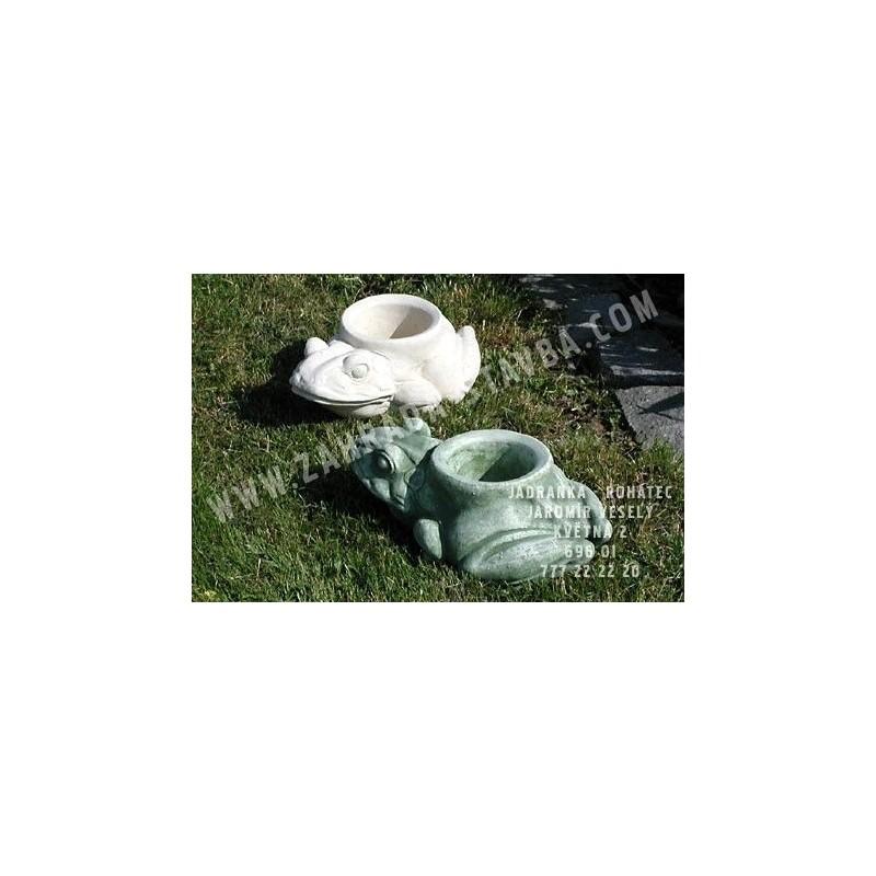 Žába květináč - patina
