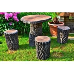 Sedací souprava imitace dřeva