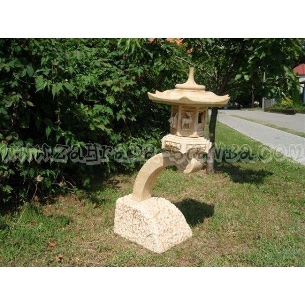 Japonská lampa k vodě střední
