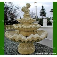 Barokní fontána 3 patra s kulatou kašnou