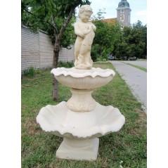 Zahradní fontána střední - Amor s rybou