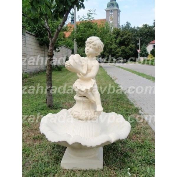 Zahradní fontána střední - Amor s mušlí