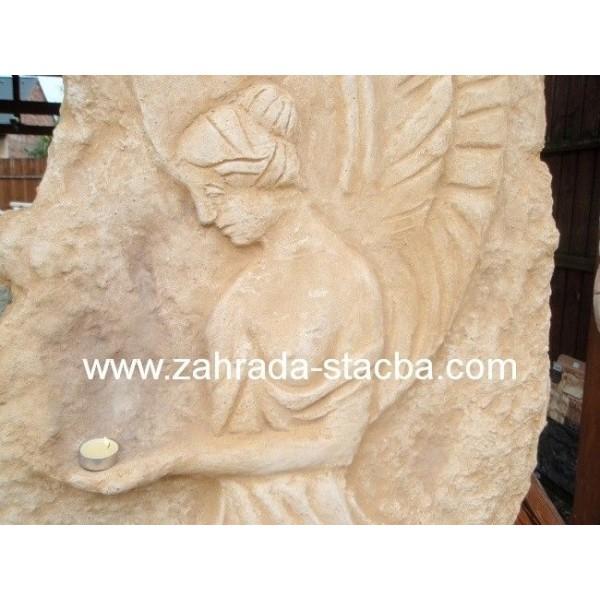 Plastika Anděla - dekorace z kamene