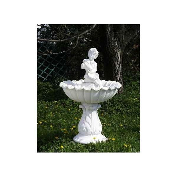 Zahradní fontána střední - Amor s mušlí 2