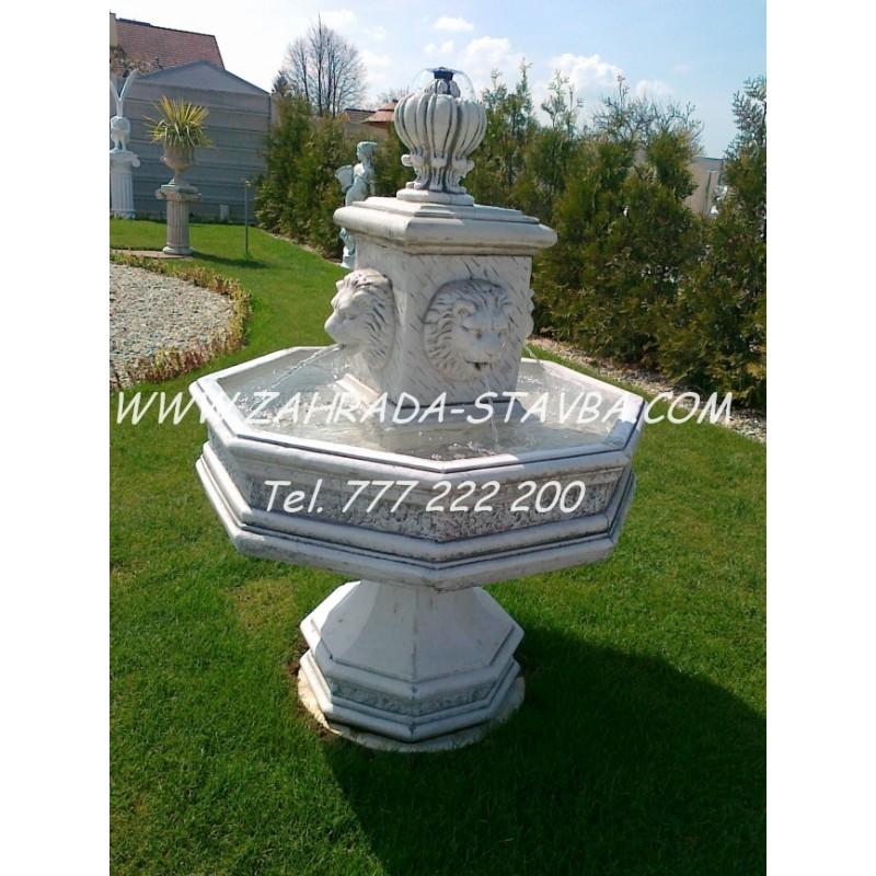 Zahradní fontána F13 8 hran