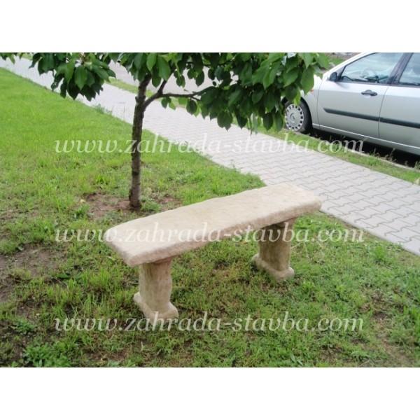 Zahradní lavice kamenná