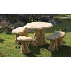 Zahradní sedací souprava kamenná