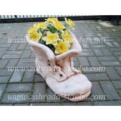 Zahradní květináč. Bota maxi - patina