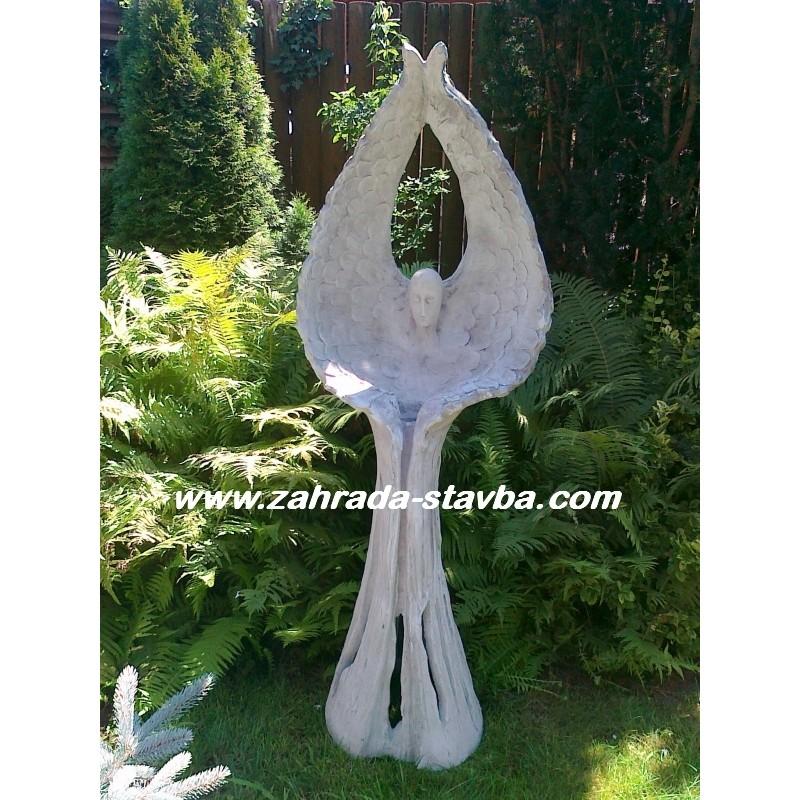 Anděl s křídli - lampa