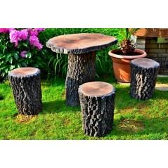 zahradní stůl - imitace DUB